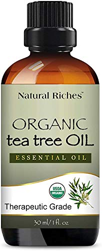 Organic Tea Tree Oil - Pure USDA Organic Certified Tea Tree...