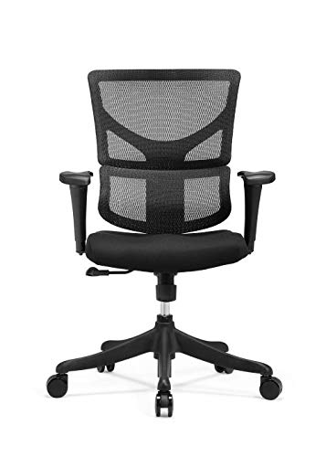 X Chair Executive Office Desk Task Chair (X-Basic-Black) Ergonomic Lumbar Support, Heavy Duty Rolling Wheels - Breathable Mesh Cushion - Adjustable Arms,Swivel, Drafting Gaming Computer Chair