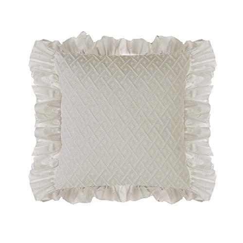 Blanc Mariclo Floral Romance Copri Cuscino 45 x 45 cm Shabby Chic (Beige)