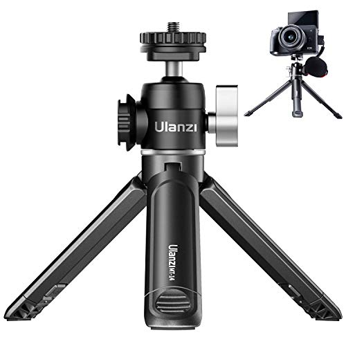 ULANZI Mini Camera Tripod with 360° Ball Head & Cold Shoe, Extendable Small Selfie Stick Tabletop Tripod Stand Handle Grip for Camera iPhone 11 Canon G7X Mark III Sony ZV-1 RX100 VII A6600 Vlogging