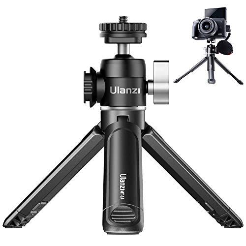 ULANZI U-Vlog lite Mini Kamera Stativ mit 360 ° drehbar Kugelkopf, Mini Stativ mit 2 Cold Shoe Mount, Fotostativ Halter für Canon Nikon Sony DLSR Kamera