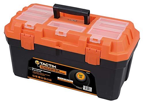 Tactix 320114 - Caja de herramientas (57,4 cm), color negro y naranja