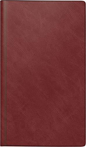 rido/idé 7025012291 Buchkalender Reisemerker, 1 Seite = 1 Tag, 113 x 195 mm, Schaumfolien-Einband Catana weinrot, Kalendarium 2021