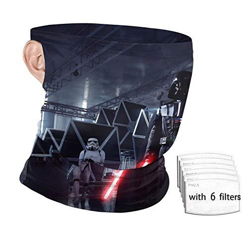 Star-wars Face Mask Neck Gaiter Dust Masks with 2 filters Adjustable Ear Loops Motorcycle Mask for men women