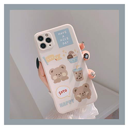 Glqwe Caja del teléfono Dulce para iPhone 12 Mini Pro MAX 6 7 8 11 S Plus X S XR MAX Funda Suave Linda (Color : 01, Material : For iPhone 7s)