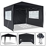 Laiozyen 3 x 6 m Waterproof Pop Up Gazebo Marquee Water Resistant Tent with Side Panels & Storage Bag for Outdoor Wedding Garden Party 8