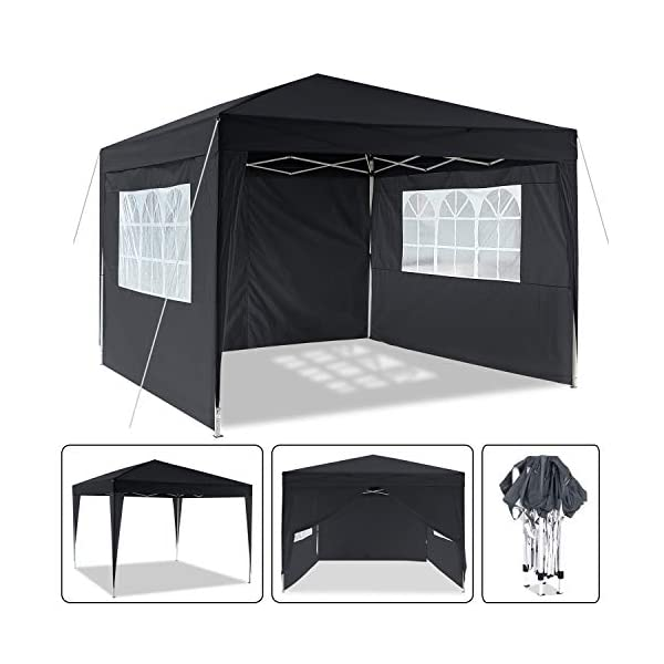 Laiozyen 3 x 6 m Waterproof Pop Up Gazebo Marquee Water Resistant Tent with Side Panels & Storage Bag for Outdoor Wedding Garden Party 1
