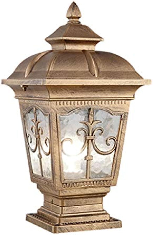 Xing Hua home Wegeleuchten Sulenlampe Wandlampe Rasenlampe Wasserdichte Gartenlampe des Hauses uenaluminiumwandlampe Gartenlandschaftslampe Wegeleuchten (Farbe   Bronze, Größe   13.5  13.5  36cm)