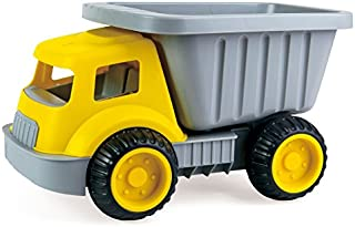 Hape Load & Tote Dump Truck Indoor/Outdoor Beach Sand Toy Toys, Yellow