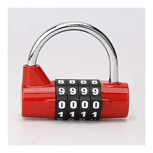 JYSLI Install Better 4 Digit Combination Practical Travel Bag Luggage Suitcase Security Lock Padlock design (Color : RED)