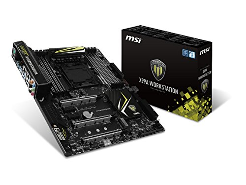 MSI Intel X99 LGA 2011 DDR4 USB 3.1 Form Factor ATX Motherboard (X99A WORKSTATION)