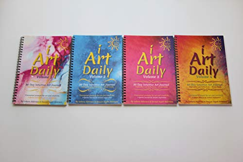 iArtDaily 4-30 Day Intuitive Art Journals - 4 Pack-120 Quote Art Prompts for Inspiration, Reflections and Creativity - Mixed Media - iCreateDaily