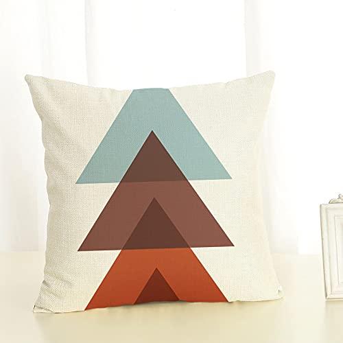 MissW Federa Decorativa Abbinata al Colore del Triangolo di Colore Moderno con Cerniera Senza Anima del Cuscino Federa Lavabile Adatta per Divano Sedia