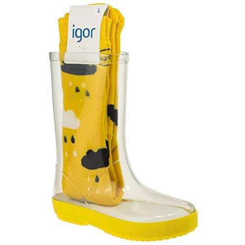 Igor - Botas de Agua Transparente niños Piso Amarillo - Amarillo, 27