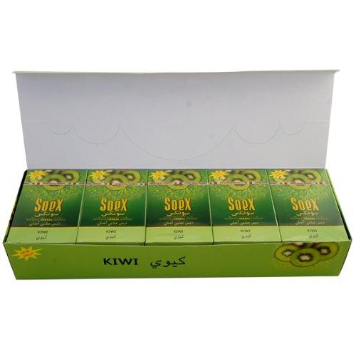 Kiwi Geschmack Soex Wasserpfeife Shisha Authentic Melasse Full Versiegelter Box 10Packungen x 50g–Gesamt 500gr