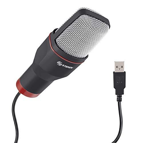 STEREN Microfono USB de Condensador para pc