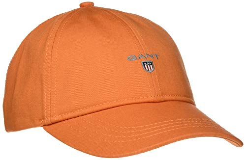 GANT Herren Twill Baseball Cap, Orange (Amberglow 800), One Size (Herstellergröße: Oversize)