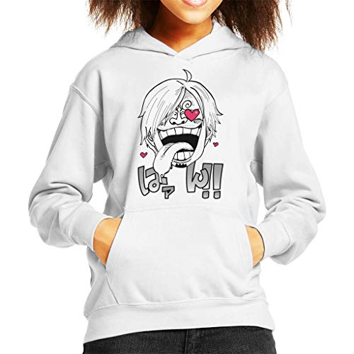 Vinsmoke Sanji Heart Eyes One Piece Kid's Hooded Sweatshirt