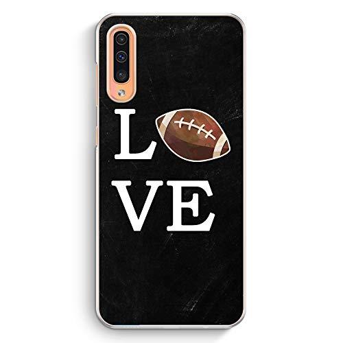 Love American Football - Hülle für Samsung Galaxy A50 - Motiv Design Sport - Cover Hardcase Handyhülle Schutzhülle Case Schale