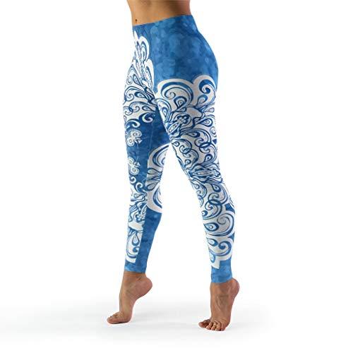 WJunglezhuang Vrouwen 4 Manier Stretch Tummy Controle Yoga Leggings Wit Mandala Fitness Skinny Broek Butt Lift Panty