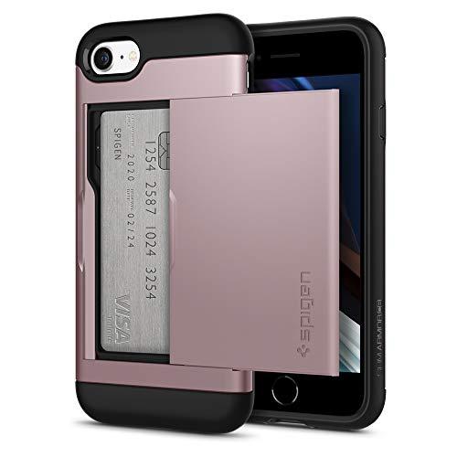 Spigen Slim Armor CS Hülle Kompatibel mit iPhone SE 2020, iPhone 8 und iPhone 7 -Rose Gold