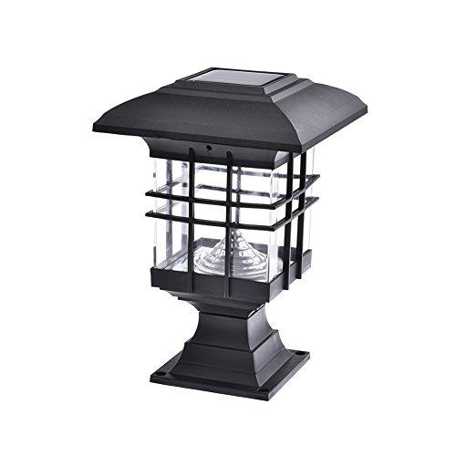 Gaeruite - Lámpara solar para pilar, luces solares, paisaje de jardín, luz solar exterior, iluminación LED para exteriores e impermeables, luces decorativas