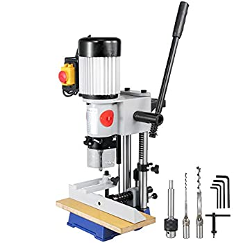 VEVOR Woodworking Mortise Machine 1/2 HP 1700RPM Powermatic Mortiser With Chisel Bit Sets Benchtop Mortising Machine For Making Round Holes Square Holes Or Special Square Holes In Wood