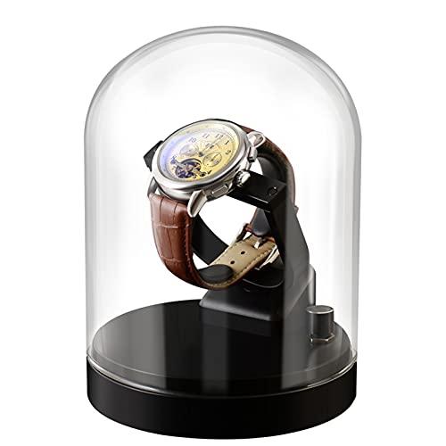 nunca te rindas Rotary Watch Shaker Mechanical Watch Reloj Automático Caja De Almacenamiento Single Shake Swinger Metal Rotating Placer Placer Hogar(Color:A)