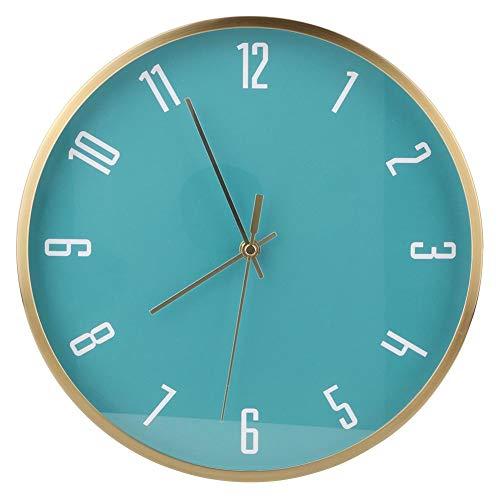 【𝐎𝐟𝐞𝐫𝐭𝐚𝐬 𝐝𝐞 𝐁𝐥𝐚𝐜𝐤 𝐅𝐫𝐢𝐝𝐚𝒚】 Reloj de Pared de Forma Redonda, decoración de Tiempo de Reloj silencioso de Cuarzo de Cobre casero Simple con Escala Digital Clara para Oficina(#2)