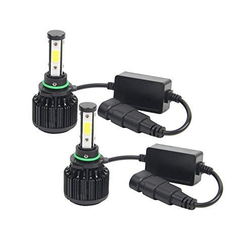 Gzcrdz extrêmement lumineux phares LED X6 Série LED Ampoules de phare 9006 HB4 kit de conversion avec 2 pcs d'ampoules LED 80 W 8000lm LED Super Chips Faisceau Unique