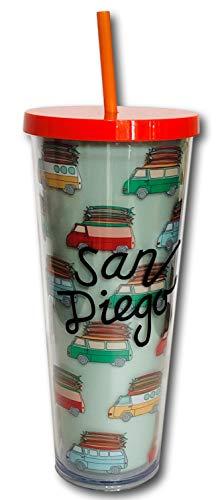2019 Starbucks San Diego California 24oz Venti Cold Cup Traveler Tumbler