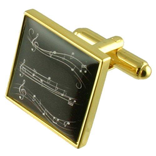 Select Gifts Oro Opera orquesta musical Partituras gemelos con bolsa