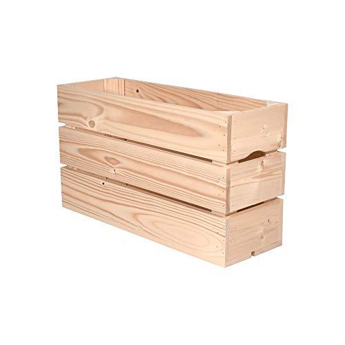 Simply a Box Caisse en Bois 1/2HAUTE (L.54 x l.18 x h.30) Fabriquée Main en France