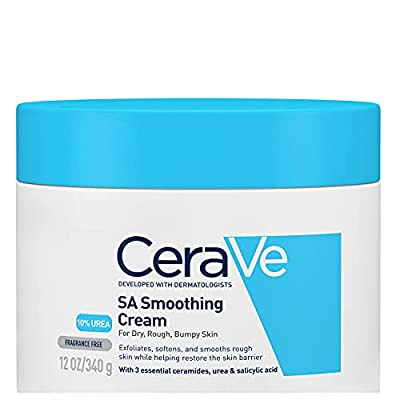 CeraVe SA Smoothing Cream 340g/12oz | Body Moisturiser for Smoother Skin in Just 3 Days by Cerave