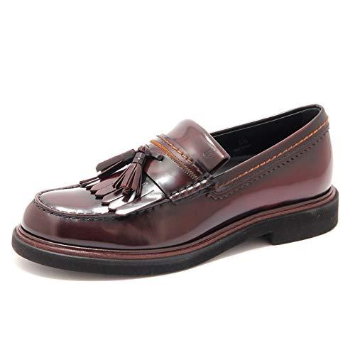 Tod's 5892AE Mocassino Uomo frangia nappina Leather Bordeaux Loafer Man [6]