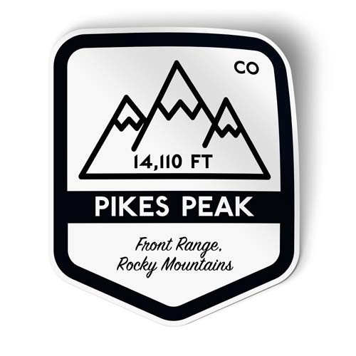 """Squiddy Pikes Peak - Vinyl Sticker Decal for Phone, Laptop, Water Bottle (3"""" high)"""