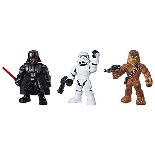 Star Wars Galactic Heroes Mega Mighties 3-Pack -- Stormtrooper, Darth Vader, and Chewbacca 10-Inch Action Figures, Kids Ages 3 and Up (Amazon Exclusive)