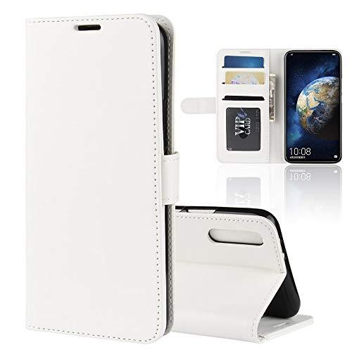 ZAORUN-Mobiltelefon-Schutzhülle R64 Texture Single Fold Horizontal Flip Leder Tasche Kompatibel Kompatibel für Huawei Honor Magic 2, mit Halter und Kartensteckplätze und Geldbörse (Schwarz)