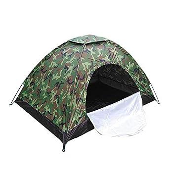 Tente Camping, Tente 2-3 personnes à montage rapide, Outdoor Pop-up légère, Imperméable Ventilée pour, Camouflage Tente de Camping, camping, backpacking(200*150*110cm)