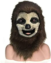 Qiqibaihuo-masks Factory Mastermind Selling Handmade Customized Parade Moving Mouth Mask Sloth Simulation Beast Mask (Color : Brown)