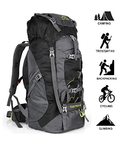 outlife Hiking Backpack, 60L Large Rucksack for Men Women, Tear and Water-resistant Ideal for Camping Trekking Travel Outdoor (Black)