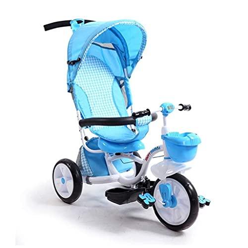 OHHG Bicicleta niños, Triciclo Triciclo Cochecitos Plegable Carrito bebé Triciclo niños Bicicleta 1 a 6 años Bicicleta bebé/Bicicleta bebé Cochecito niños Bicicleta niños