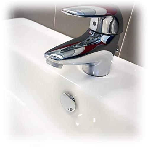Fischer Tappo Troppo Pieno TTP K Cromato Coperchio Adatto per Foro su lavabi, lavandini e Bidet, per bagni e cucine, 551885