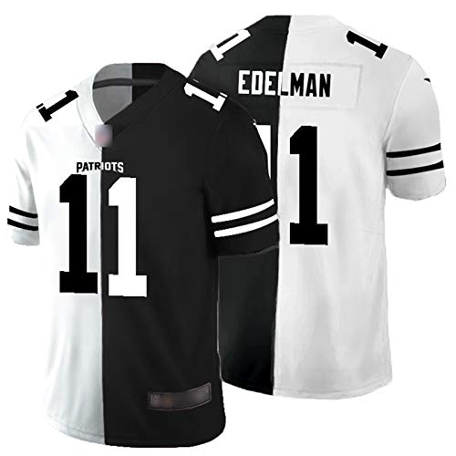 Neue EnglÁnd Edelman # 11 Rugby-Trikots, Amerikanische Fußballkleidung Gestickte Kurzarm Peits Sweatshirt Erwachsene Jersey Fußball-T-Shirt C-M(175~180CM)