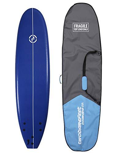 Two Bare Feet MD Foamy Surfboard 6ft, 7ft, 8ft + Travel Boardbag - Adult's &...
