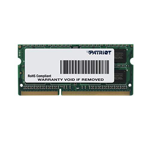Patriot Memory Serie Signature SODIMM Low Voltage Memoria singola DDR3 1600 MHz PC3-12800 8GB (1x8GB) C11 - PSD38G1600L2S
