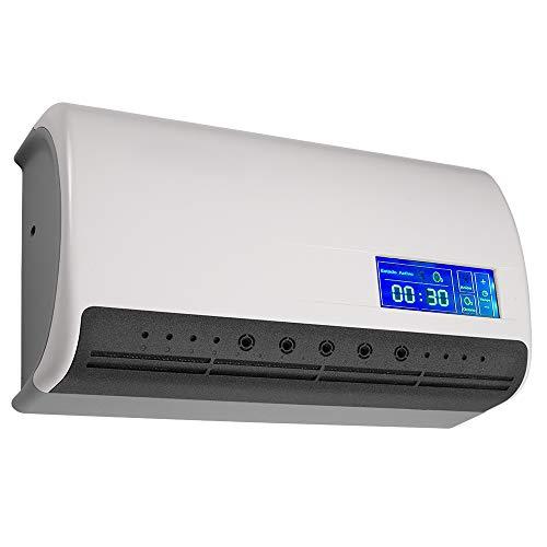 Gridinlux generador de ozono y aniones   Purificador de aire portátil para el hogar con pantalla táctil para casa.