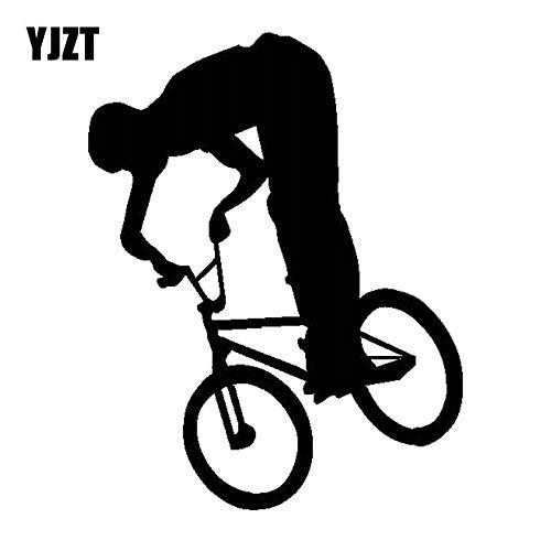 JYIP Vinilo Deportivo para automóvil Divertido Truco de BMX Grande de 13 5 CM x 17 2 CM Accesorios clásicos para el Cuerpo del Coche Pegatinas Decorativas C31-0275-white