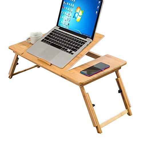 Tavolino da Letto per Laptop, Supporto per Notebook Pieghevole Scrivania per Colazione Vassoi da caffè per Ufficio su Letto/Divano Angolo Regolabile in Altezza (2 Dimensioni),Large