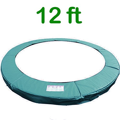 Greenbay 12FT 366cm Premium Vervangende Trampoline Surround Pad | UV bestendige PVC top | EPE schuim (dikte: 15mm, breedte:300mm) | Safety Guard Spring Cover Padding Pads Groen